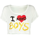 FULL TILT I Love Boys Womens Crop Top