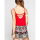 CHLOE K Surplus Womens Cinch Tank