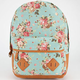CARROT COMPANY Floral Print Backpack