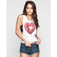 FULL TILT Donut Heart Womens Muscle Tank