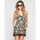 LOTTIE & HOLLY Floral Print Crochet Trim Womens Romper