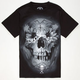 SULLEN Flower Skull Mens T-Shirt