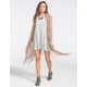 FULL TILT Womens Hooded Fringe Wrap Sweater