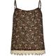 FULL TILT Ditsy Print Girls Crochet Trim Tank