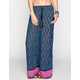 FULL TILT Border Print Womens Wide Leg Pants