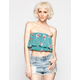 FULL TILT Womens Flounce Tube Top