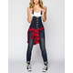 ALMOST FAMOUS Womens Denim Boyfriend Overalls