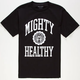 MIGHTY HEALTHY Collegiate Mens T-Shirt