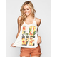 FULL TILT Tropcial Love Womens Twist Back Tank