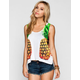 FULL TILT Pineapple Womens Deep Arm Hole Tank