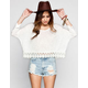 PATRONS OF PEACE Womens Crochet Trim Crop Top