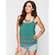 FULL TILT Boho Border Print Womens Cami
