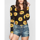 EYESHADOW Sunflower Womens Crop Tee
