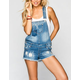 HIGHWAY Womens Denim Cutoff Short-alls