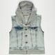 HIGHWAY Fleece Hooded Girls Denim Vest