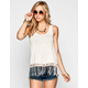H.I.P. Womens Crochet Trim Tank