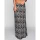 H.I.P. Ethnic Print Pocketed Maxi Skirt