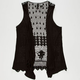 FULL TILT Crochet Back Girls Vest