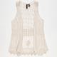 FULL TILT Crochet Back Girls Vest