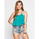 FULL TILT Crochet Overlay Womens Swing Halter Top