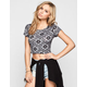 FULL TILT Bandana Womens Crop Top