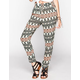 FULL TILT Ethnic Linear Print Womens Pants
