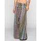 LILY WHITE Linear Ethnic Print Maxi Skirt