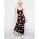 FULL TILT Floral Print Deep V Maxi Dress