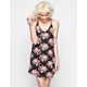 FULL TILT Floral Print Open Back Slip Dress