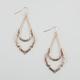 FULL TILT Hammered Open Moon Earrings