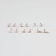 FULL TILT 6 Piece Tiny Flower/Bird/Arrow Earrings