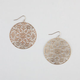 FULL TILT Medallion Cut Out Earrings