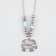 FULL TILT 2 Row Feather/Elephant Necklace