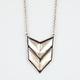 FULL TILT Chevron Plate Necklace