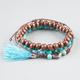FULL TILT 3 Piece Turquoise/Wood Beaded Bracelets