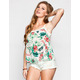 SOCIALITE Tropical Print Womens Tank