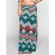 FULL TILT Geo Wave Print Maxi Skirt