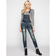 ALMOST FAMOUS Womens Skinny Overalls