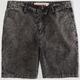 INDIGO STAR Mens Acid Wash Shorts