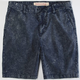 INDIGO STAR Mens Acid Wash Shorts