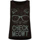 FULL TILT Check Meowt Girls Muscle Tank