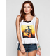 WORKSHOP Illusion Reality Womens Tie Side Tank
