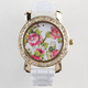 Rhinestone Floral Watch