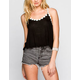 ALI & KRIS Daisy Trim Womens Crop Swing Tank