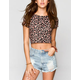 FULL TILT Ditsy Floral Print Womens Crop Top