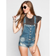 ALMOST FAMOUS Womens Boyfriend Denim Short-alls