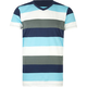 BLUE CROWN Four Stripe Mens T-Shirt