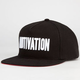 MOTIVATION Block Text Mens Snapback Hat