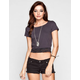 FULL TILT Lace Trim Crop Tee