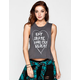 VOLCOM Shades Womens Crop Muscle Tank